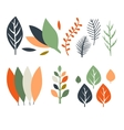 Leaves in Flat Design vector image