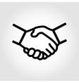 line handshake icon vector image
