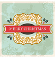 Merry christmas retro sign vector image vector image