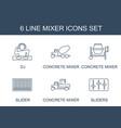 mixer icons vector image vector image