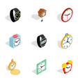 modern time icons isometric 3d style vector image vector image