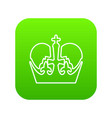 monarch crown icon green vector image vector image