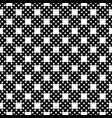 monochrome seamless pattern cross stitching vector image vector image