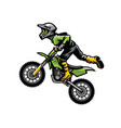 motocross rider doing stunt vector image vector image