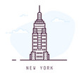 new york line style vector image