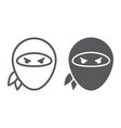 ninja line and glyph icon asian and character vector image