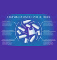 ocean plastic pollution poster water pollution vector image