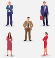 office employee collection vector image vector image