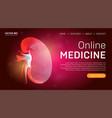 online medicine landing page template or medical vector image vector image