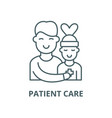 patient care line icon linear concept vector image vector image