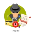 Phishing Concept Icons vector image vector image