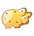 pig biscuit icon cartoon style vector image