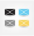 postal envelope icon vector image