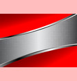 red and silver abstract background business with vector image