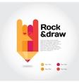 Rock-draw vector image