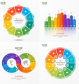 set of infographic templates with 10 options vector image vector image
