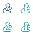 Set of paper stickers on white background boy vector image vector image