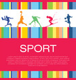 sport silhouettes poster vector image