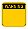 sticker warning safety sign vector image vector image