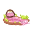 Sweet Syrup River Coming From Chocolate Candy vector image vector image