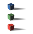 Three color cubes vector image