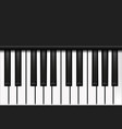 top view piano keyboard in realistic style two vector image
