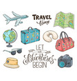 travel objects vector image