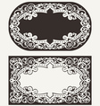 Two Ornate Frames Backgrounds vector image