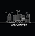 vancouver silhouette skyline canada - vancouver vector image vector image