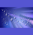 water rain drops or condensation over blurred vector image vector image