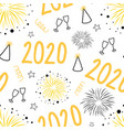 2020 new years eve celebration seamless vector image vector image