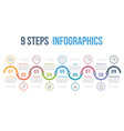 9 steps infographics vector image