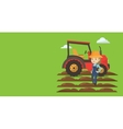 Agricultural banner with space for text vector image