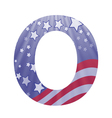 american letter O vector image