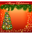 background frame with a Christmas vector image vector image