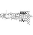 best merchant services text word cloud concept vector image vector image