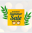 big summer sale background with glass wear vector image vector image