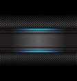 blue light line dark grey banner on circle mesh