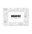 breakfast menu banner template morning food vector image vector image