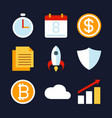 business activity and strategy icon vector image