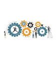 business development teamwork concept vector image