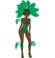 carnival girl vector image vector image
