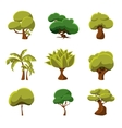 Cartoon Trees Set vector image vector image