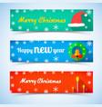 christmas and new year horizontal banners vector image vector image
