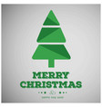 christmas greetings card with tree vector image