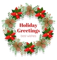 Christmas holidays wreath vector image