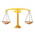 classic balance icon cartoon style vector image