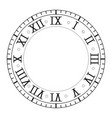 clock with roman numerals vector image vector image