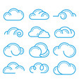 cloud logo symbol sign icon set design vector image vector image