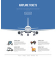 commercial airlines poster with jet airplane vector image vector image
